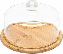 YARNOW Glasglocke Kuchenglocke Glas- Haube