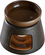 YARNOW Keramik Teekanne Wärmer mit Tasse Tee Herd