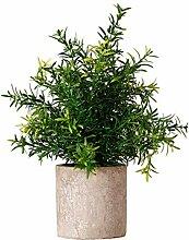 YARNOW Künstliche Pflanze Topf Mini Topf