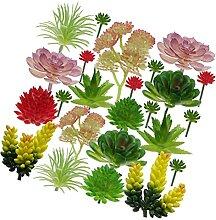 YARNOW Mini Künstliche Sukkulenten Pflanzen