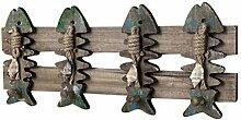 YARNOW Vintage Retro Holz Haken Kleiderhaken Fisch