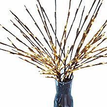 Yasiminyo 2018 Weihnachten LED Weidenzweig Lampe
