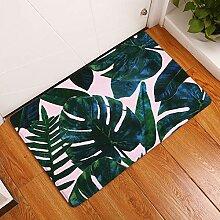 YATING Grüne Blattmatte Türmatte Digitaldruck