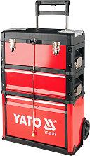 YATO Werkzeugtrolley mit 2 Schubladen 52x32x72 cm