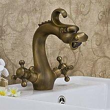 YAWEDA Antique Brass Drachen Design Wassermischer