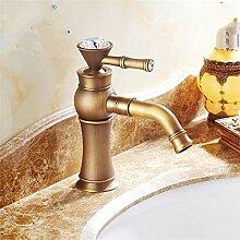 YAWEDA Badezimmer-Hahn-Antike Wasser-Kran Mit