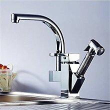 YAWEDA Moderne Minimalist Kupfer Küchenarmatur