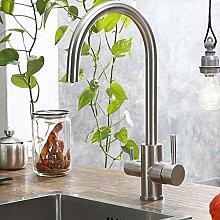 YAWEDA Trinkwasser-Hahn-3-Wege-Wasserfilter