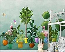 YAXIAA Tapete 3D Wandbild Nordische Pflanze