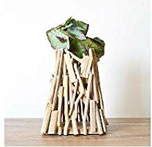 YAXIN Handgemachte hölzerne geometrische Vase