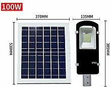 YaXuan 100W Wall Street Light, Solar Remote