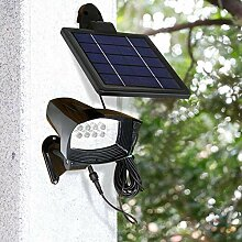 YAXuan Lampe Outdoor Solar Wandleuchte, 8led