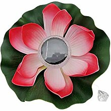 YAXuan Lampe Solarlicht, Floating Lotus Solar