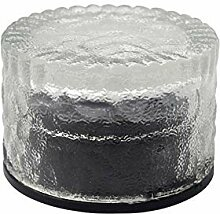 YaXuan Solar Garden Lights, Round Ice Glass Floor