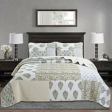 YAYIDAY Patchwork Baumwolle Tagesdecke Quilt Sets
