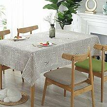 YAYONG Tischdecken Baumwolle Vintage Europäische