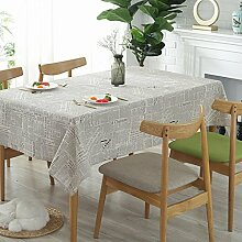 YAYONG Tischdecken Baumwolle Vintage europäischen