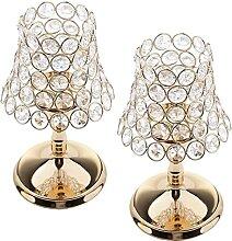 YAYY 2 Stück Gold Säulen Schreibtischlampe