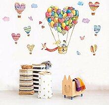 YAZCC Liebe Heißluftballon Muster Wandaufkleber