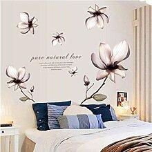 YAZCC Lilien-Blumen DIY PVC-Wand-Aufkleber für