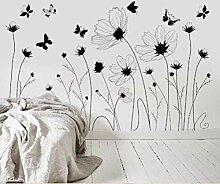 YAZCC PVC schwarz und weiß Schmetterling