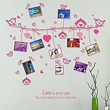 YAZCC Rosa romantische Liebe Seil Foto Wand PVC