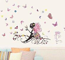 YAZCC Schmetterling - Blumenfee - Aufkleber für