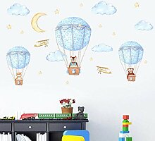 YAZCC Tier Heißluftballon Wand DIY Aufkleber Für