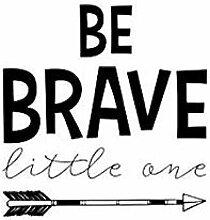 YAZCC Wandaufkleber Brave Arrow Quote Art