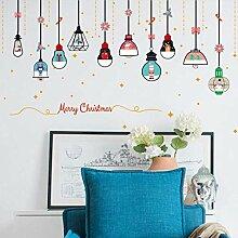 YAZCC Weihnachten Kronleuchter Wandaufkleber DIY