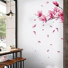 YAZCC Zweig Pfirsichblüte PVC Wandaufkleber DIY