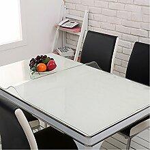 Yazi klar Tisch Bezug PVC Tischdecke Schreibtischunterlage Küche Home Dekoration Geschenk 70x 120cmx1mm