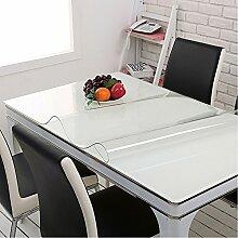 Yazi klar Tischdecke einfach reinigen Tabellen Protector Soft Glas Tischdecke Küche Dekoration 80x 140cmx1mm