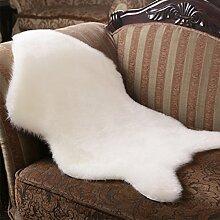 Yazi weiß Schaffell Teppich Webpelz mit einzelnes Wolle Matte 60x 90cm