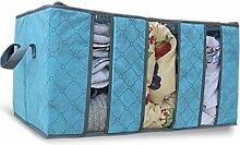 YB 65L tragbar Speicher Organisation/durchsichtselement zusammenklappbar Aufbewahrungsbeutel für Quilt, Kleidung, Kissen, Decke Storage Reißverschluss Tasche Case Container Box blau