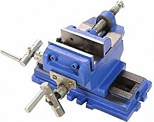 ybaymy, 3/4/4 Zoll 360 ° drehbar Schraubstock Clamp-Schraubstock, Ingenieur Werkbank Jaw Tisch mit Amboss Drill Press Milling Machine Folie Zange Grillzange pinchers Heavy Duty-Schreiner Griff, Blau