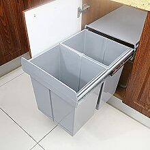 ybaymy Einbaumülleimer - Ausziehbarer Mülleimer