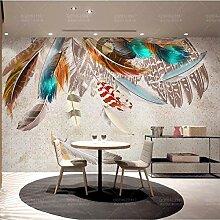 YBHNB Wandfarbe Feder Textur Kunst Retro American