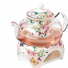 YBK Teekanne Teekanne aus feinem Porzellan mit