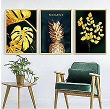 YBlove Pflanze Ananas Blatt Leinwand Poster