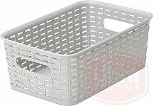 YBM HOME Kunststoff-Aufbewahrungsbox aus Rattan,