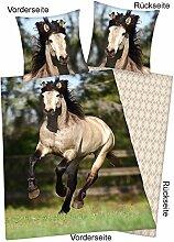 YC Pferde Foto-Bettwäsche Andalusier, 130x200cm