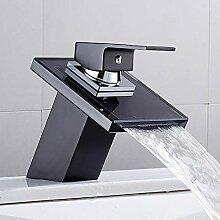YCEOT Solide Glas Wasserfall Waschbecken