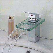 YCEOT Waschbecken Bad Wasserhahn Einlochmontage