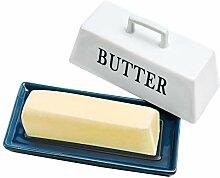 YCOCO Porzellan-Butterdose mit Deckel,