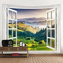 YCRY wandteppich Wand aufhängen,Fenster Fenster