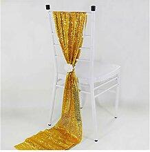YCSC Rose Gold Pailletten Tischläufer Luxus Stil