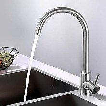 YDYDYD Edelstahl Küchenarmatur 360° Drehbar