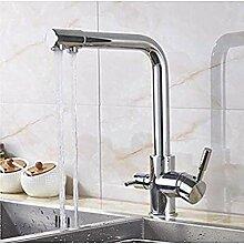 YDYDYD Wasserhahn mit Wasserhahn Chromhahn mit