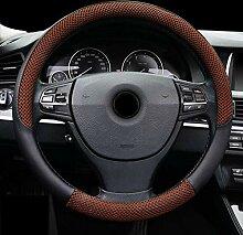 YE Auto Lederlenkradabdeckungen Universal 15 Zoll
